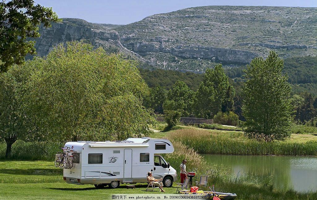 湖边旅游房车 湖边 旅游 房车 休闲 度假 旅游摄影 其他 摄影图库 300