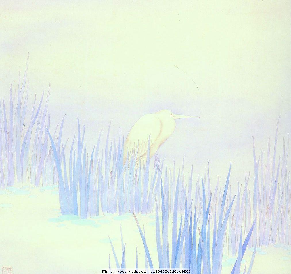 思念 中国工笔画 背景 杜曼华 花鸟画 风景 文化艺术 绘画书法