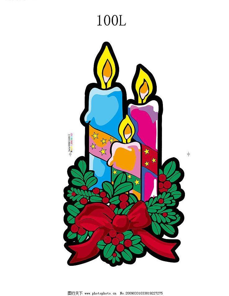 彩色蜡烛图片