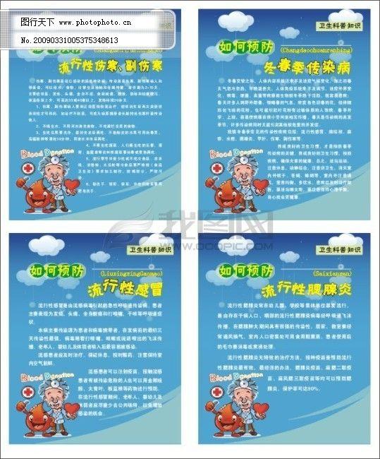 广告设计 科普常识 科普挂图 科普展板 科普知识 腮腺炎 矢量科普版面