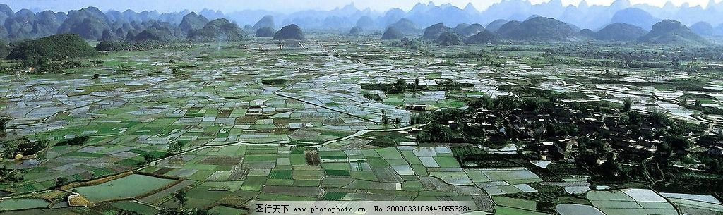 桂林农田田园风光