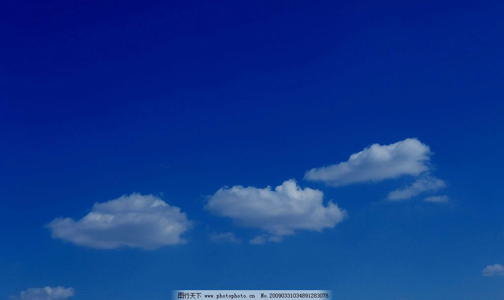 超高质量蓝天白云图片_自然风景_自然景观_图行天下