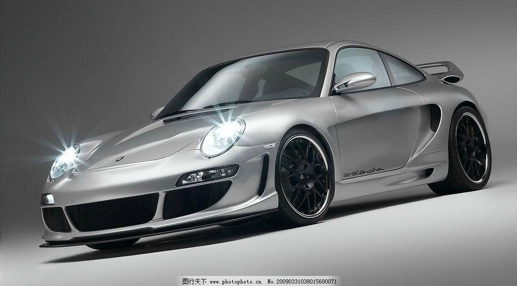 保时捷911银色跑车图片