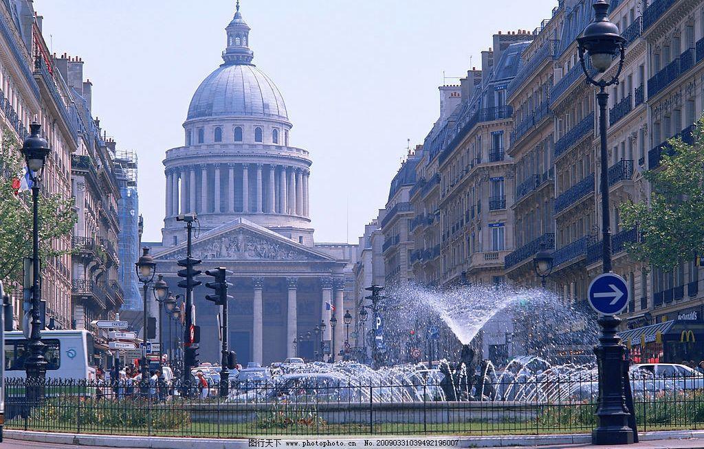 广场 建筑 喷泉 欧洲 白宫 欧式 建筑园林 建筑摄影 摄影图库