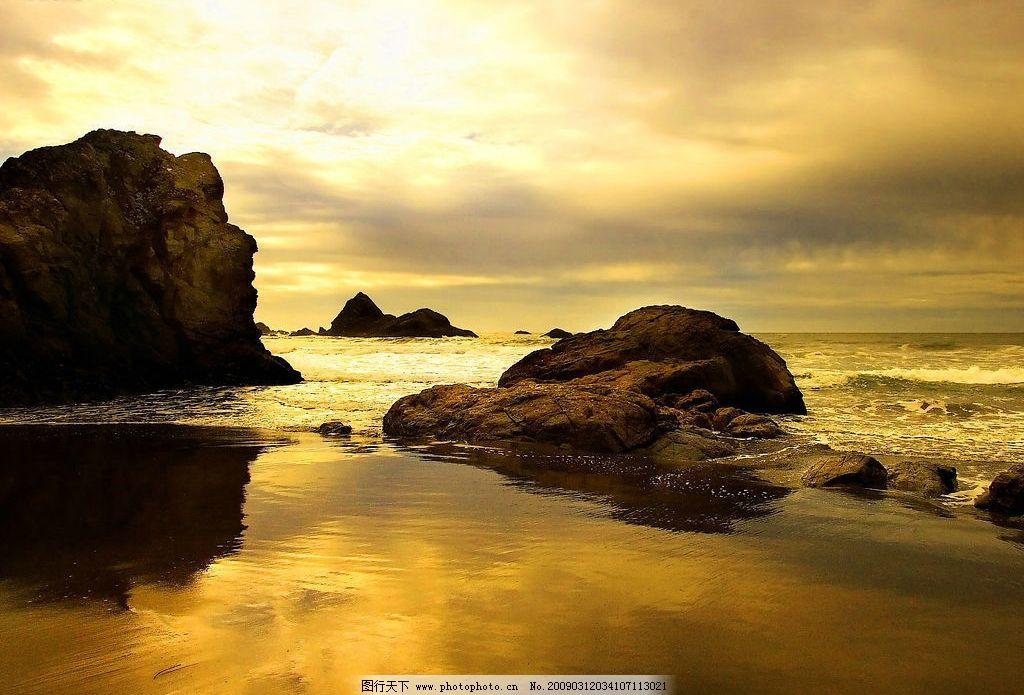 夕阳下的湖泊,山水,旅游摄影,自然风景,摄影图库,96DPI,JPG